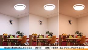 LED シーリングライトの調色